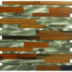Baguette Catalpa Wood & Silver Aluminum Mix - MEMI52