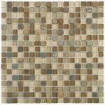 Beige Brown Slate Glass 58x58 - 12x12 Sheet ARRO17