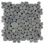 Grey Rectified Matte Pebble Interlocking - 12x12 Sheet GAGR01R