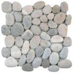 Mix GreyBeige Rectified Matte Pebble Interlocking - 12x12 Sheet GAGR07R