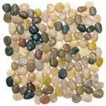 Mix Polished Pebble Interlocking - 12x12 Sheet GAMI04