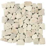 Onyx White Opus Mosaic Interlocking - 12x12 Sheet - MABL01