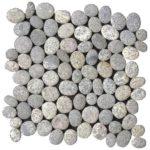 Speckled Rectified Matte Pebble Interlocking - 12x12 Sheet GAGR05R