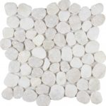 White Marble Pebble Style Mosaic MABL95