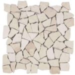 White Opus Mosaic Interlocking - 12x12 Sheet - MABL64