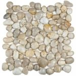 White Polished Pebble Interlocking - 12x12 Sheet GABL03