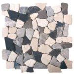 WhiteGreyBlack Opus Mosaic Interlocking - 12x12 Sheet - MAMI11